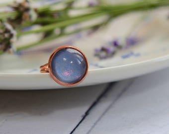 Rose Gold Ring - Moonstone Ring - Rose Gold Jewellery - Handmade Rings - Statement Ring - Moonstone Jewellery