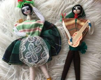 vintage handmade portuguese yarn dolls