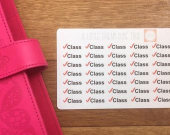 Class Planner Stickers for School, University and College