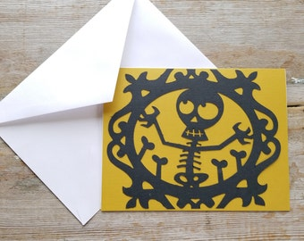 Skeleton Card - Let's Bone - Halloween Greeting Card - Skeleton Card Funny - Card for Husband - Card for Boyfriend - Dirty Card - Adult Card