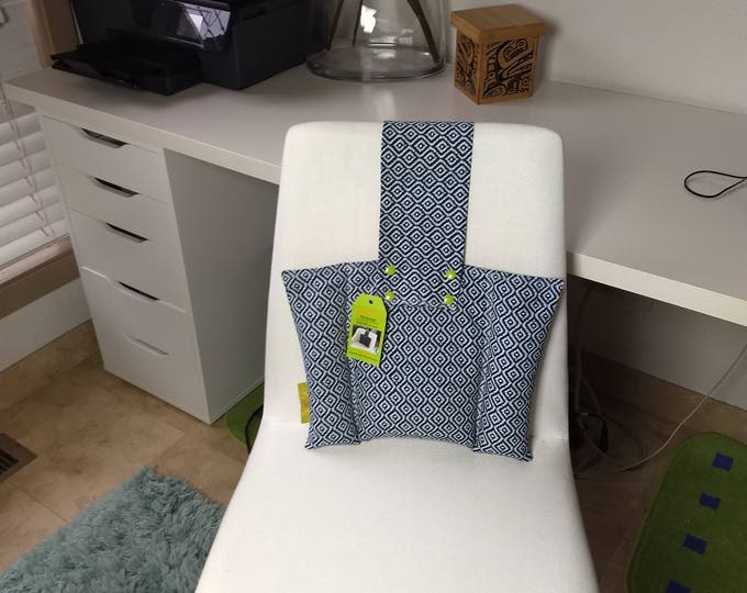 Blue Supportive  Back Rest Heat or Freeze- CushArm