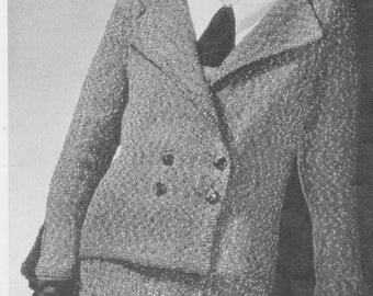 1934 Ladies Tweed Suit