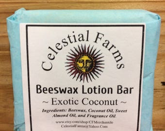 Natural Bees Wax Lotion Bar - Exotic Coconut