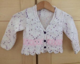 Handknitted and Designed by me Cardigan to fit age 6 months