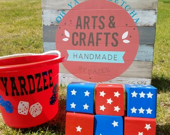 4TH OF JULY, 4th of July Theme, Farkle Dice Game, Yardzee Game, Yard Game, Giant Dice Game, Camping Games, Summer Games, Best Summer Gifts