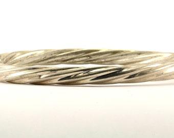 Vintage Twisted Bangle Bracelet Sterling Silver BR 2413
