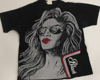 Vintage Carling Black Label Beer T-shirt  ~1980's Silk Screen Printed 100% Cotton One Size
