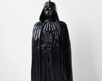 Handmade Darth Vader candle, pillar candle, big black, candle, cut candle, figure candle, handmade cut candles, carved candles