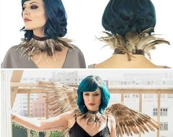 Night Owl Costume Set with Wings and Choker