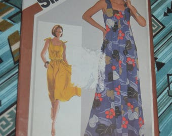 Simplicity 5383 Misses Jiffy Pullover Sundress in Two Lengths Sewing Pattern - UNCUT - Size Petite 6 - 8