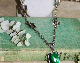 Emerald Green Pendant Necklace