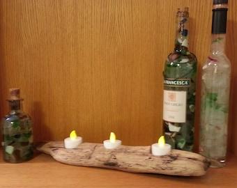 Driftwood Tea Light Candle Holder, Table Centerpiece, Table Decor, Gift, Beach Wedding, Patio Decor, Large, Decoration, Rustic wood, Coastal