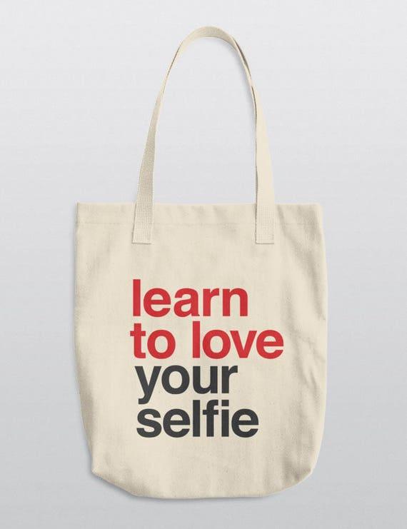 Learn To Love Your Selfie | LA Apparel E549 Bull Denim Woven Cotton Tote