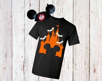 Men's Disney Castle Halloween Shirt