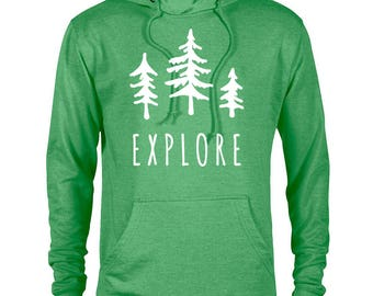 Explore Trees National Park Adventure Unisex Hoodie