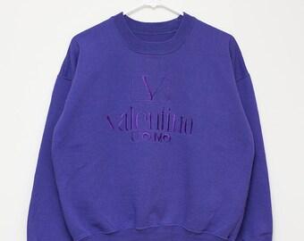 Valentino Uomo Crewneck Sweatshirt Purple