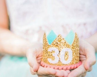 30th Birthday For Her || Adult Birthday Crown  | Flirty Thirty Birthday Crown | 30th Birthday Crown For Women | Thirtieth Birthday Crown