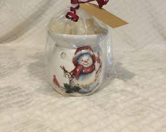 Wax burner gift set oil burner gift set decoupage vanilla wax melts teachers gift Christmas present
