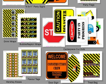 CONSTRUCTION Party Printable | Construction Birthday Decorations | Dump Truck Party | Instant Download