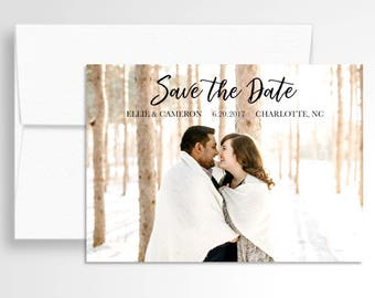 Photo Wedding Save the Date // Your Photos! // Photo Save the Date // Wedding Stationery // Custom
