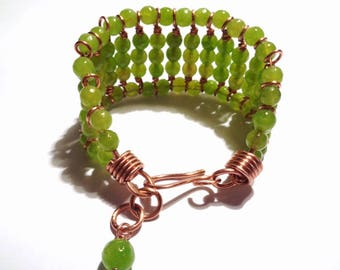 Copper bracelet and Moldovan pearls