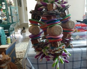 Handmade bird toys for your freathered friends!