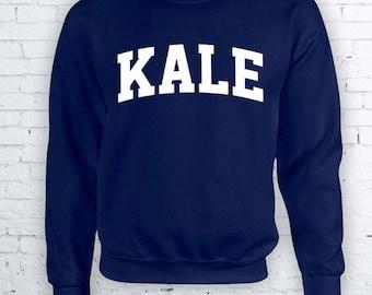 Funny Yale Kale Vegetarian University College long sleeve top Student Crewneck Sweater Hoodie FEA307