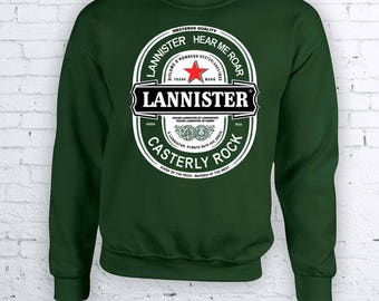 Lannister Beer - Jon Snow Game of Thrones Christmas Holidays Ugly Sweater - Ugly but cute Christmas Sweather Crewneck Sweater Hoodie FEA405