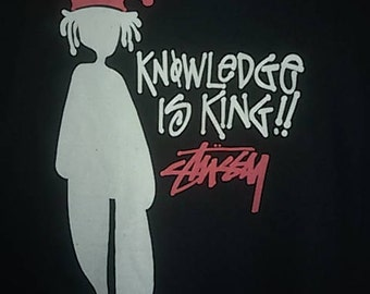 Vintage!!! Stussy T Shirt// Man Picture skateboars//Streetwear//Size L