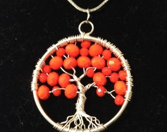 Sale.Tree of Life Necklacе Pendant .Artistic Wire Silver Plated.Tarnish Resistant Silver.amulet is Gladness and Health