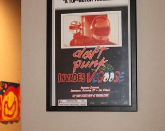 DAFT PUNK Custom Frame Guy-Manuel de Homem-Christo Thomas Bangalter Rave at EuroDisney Da Funk Alive