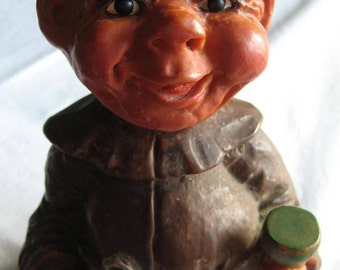 1960's HEICO Nodder Drunk Monk Troll Doll BOBBLEHEAD - 15cms/6ins. Made by HEICO, West Germany.