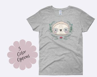 Sloth Shirt, Sloth Tee, Sloth TShirt, Animal Shirt, Ladies Shirt, Unique Shirt, Womens Shirt, Funny Shirts, Funny TShirts, Ladies Tee