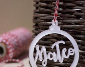 Christmas ball ornament with personalized name