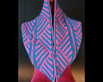 Hand Knit Infinity Scarf Cowl 100% cotton