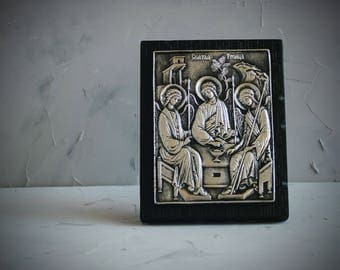 Orthodox Icon, Holy Trinity Icon, Religious Icon, Orthodox Russian Icon, Guardian Angel Icon, Christian Gift, Religious Gift, Angel Icon