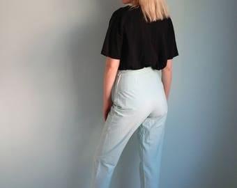 Vintage High Waisted Gingham Pants