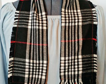 Kids Plaid Fringe Scarf