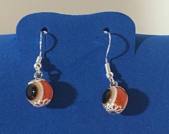 Evil Eyes Earrings .925  Sterling Silver