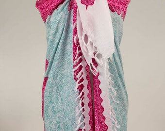 Indian Sarong, Beach Pareo, Beach Cover Up, Women Accessory, for her, Summer Scarf, Soft Scarf, Boho Pareo, Boho Sarong