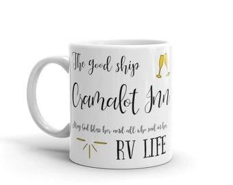 Cramalot Inn I Love RV Mug. Perfect camping homeware RV accessories