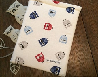 Book Cover / Book Sleeve - Baby Owl BookBurrow