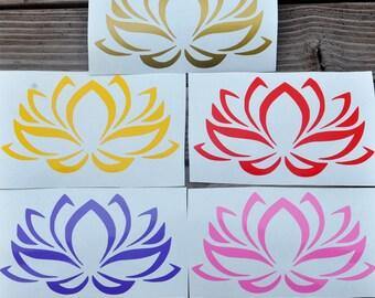 Lotus Flower Vinyl Decal