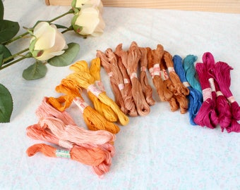 New 27 pcs set Soviet vintage embroidery Skeins Mix Colors Cross Stitch sewing thread cotton Multi Color Embroidery Floss Mouline USSR 1980s