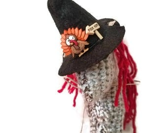 Crochet Horse Plushie for Fall