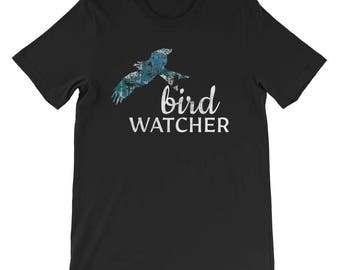 Bird Watcher Bird Watching Birdwatching Birding Nature Study Animal Outdoors Aviary Short-Sleeve Unisex T-Shirt