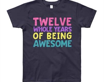 12th Birthday Party Shirt - Twelve 12 Year Old Shirt for Girls - Birthday Shirt for Girls 12 - Birthday Girl Shirt 12 12th Twelfth Birthday