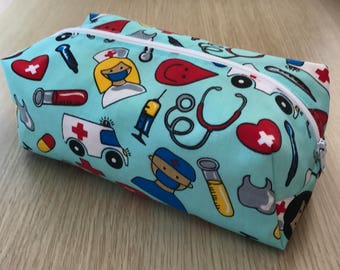 Nurse Cosmetic Bag, Nurse Make Up Bag, Cosmetic Purse, Nurse Pencil Case