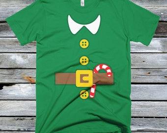 Elf Costume Shirt - Candy Cane, Christmas Costume, Elf T-shirt, Xmas shirt, Funny Christmas Shirt
