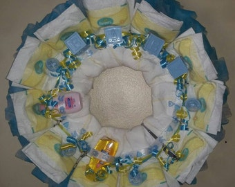 It's a Boy Diaper Wreath